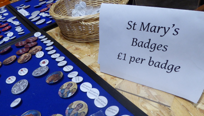 St Mary's Badge Stall