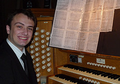 Geoff at the organ