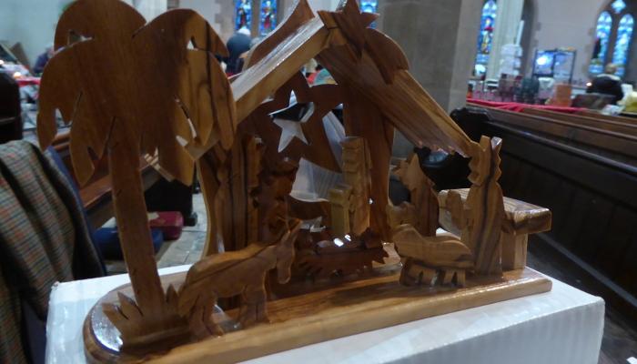 olivewood nativity